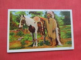 Osage Indian & Pony Oklahoma       Ref 3357 - Native Americans