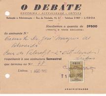 Portugal  5 Faturas Recibos De Jornais  Já Extintos - Portugal