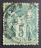 1876-1900, Sage, Pax And Mercur, Type Ll, 5c, France, Empire Française - 1876-1898 Sage (Type II)