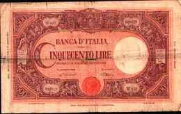 1738) Splendida Banconota Da 500£ GRANDE C BANCA D'ITALIA Del 22-7-1946 - [ 1] …-1946: Königreich