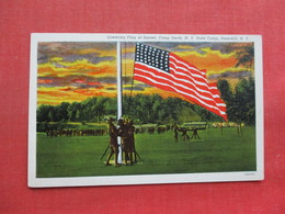 Lowering Flag At Sunset Camp Smith NY  Peekskill Ny  Ref 3358 - Other