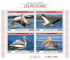 NIGER 2015 - Pelicans - Mi 3779-82 KB; CV=12 € - Pélicans