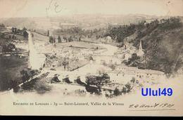 "87 Haute Vienne - SAINT LEONARD - "" Vallée De La Vienne "" - CARTE PRECURSEUR - Saint Leonard De Noblat"