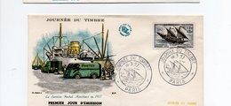 FDC  Journée Du Timbre Service Maritime Postal  Paris 16/3/1957YT 1093 - FDC