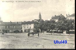 """87 Haute Vienne - SAINT LEONARD - """" Place Du Champ De Mars """" - Saint Leonard De Noblat"""
