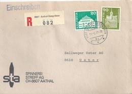 """R Brief  """"Spinnerei Streif, Aathal""""             1977 - Brieven En Documenten"""