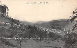 ORNANS - La Ville Et Le Château - Très Bon état - Autres Communes