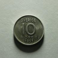 Sweden 10 Ore 1953 Silver - Sweden