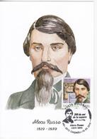 2019 , Moldova  Moldavie  Moldawien , Famous Persons , Alecu Russo , Poet , Writter , Literature , Maxicard - Moldova