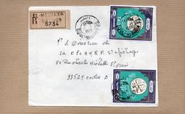 LSC 1980 - Recommandé Et Cachet  EL - MEGHAIER   & Timbres - Algeria (1962-...)