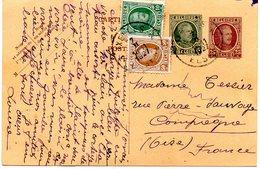 Carte Lettre , Timbres 10c Et 50c En Complément - Carte-Lettere