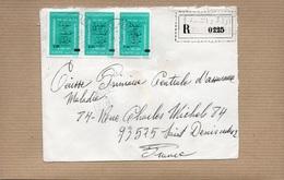 LSC 1980 - Recommandé Et Cachet  OULED - RACHED  & Timbres - Algeria (1962-...)