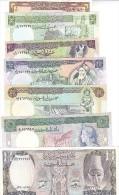 SYRIA 1 5 10 25 50 100 500 LIRA 1982 -1992 P-93 100 101 102 103 104 105 UNC SET - Syrië