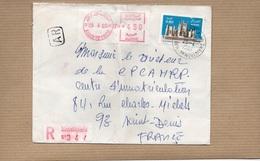 LSC 19801 - EMA - Oblitération Mécanique - Recommandé Et Cachet ALGER  1er NOVEMBRE & Timbre - Algérie (1962-...)