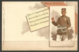 GERMANY. POSTCARD. POSTMAN. UEBERALL ZU KAUFEN – EDWIN BORMANN - Postal Services