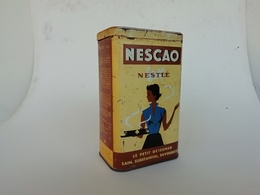 Boite Ancienne En Tôle Publicitaire Nescao Nestlé Fabriqué Par Sopad St - Menet - Cioccolato