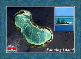 Kiribati Fanning Island Satellite View New Postcard - Kiribati