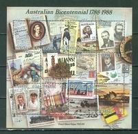Tonga 672 Australian Bicentennial Souvenir Sheet Block MNH 1988 A04s - Tonga (1970-...)