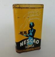 Boite Ancienne En Tôle Publicitaire Nescao Nestlé Fabriqué à Pontarlier, Doubs - Cioccolato
