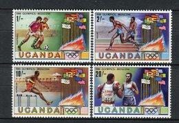 Uganda 1980. Yvert 246-49 ** MNH. - Uganda (1962-...)