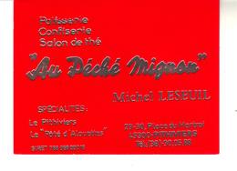 """Carte De Visite   : Pâtisserie, Confiserie  Salon De Thé  """"Au Péché Mignon"""" Pithiviers - Michel Leseuil - Visiting Cards"""