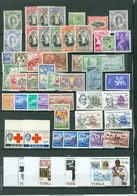 Tonga Views Queen Royalty More WYSIWYG LOT Of 52 Incl 9 SETS...MNH MH..cat.$90 A04s - Tonga (1970-...)