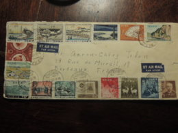 JAPON  BELLE AFFRANCHISSEMENT PHILATELIQUE  DES ANNEES 60 - Briefe U. Dokumente