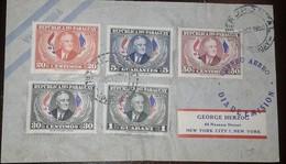 O) 1950 PARAGUAY, FRANKLIN D. ROOSEVELT, SCT C184-C188, TO USA - Paraguay