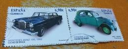 ESPAGNE SPANIEN SPAIN ESPAÑA 2013 FROM MS CLASIC CARS: MERCEDES-BENZ 190+CITROËN 2CV ED 4788A+B MI 4773-4 YT 4478-9 SC 3 - 1931-Today: 2nd Rep - ... Juan Carlos I