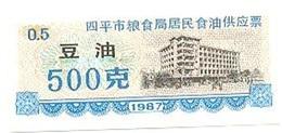 China (CUPONES) 0.50 Kilos 1987 Siping (Jilin) Cn 22 S7.00500 UNC - China
