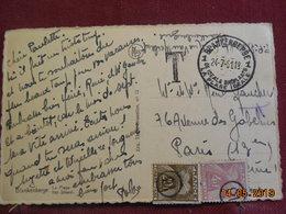 Carte De 1951 à Destination De Paris Avec Timbres Taxes à L'arrivée - Storia Postale