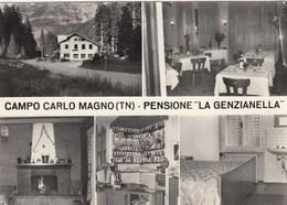 CAMPO CARLO MAGNO-TRENTO-MULTIVEDUTE(5 IMMAGINI)-CARTOLINA VERA FOTOGRAFIA- NON VIAGGIATA ANNO 1955-1960 - Trento