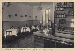 SAN REMO-IMPERIA-RISTORANTE PESCE D'ORO-BANCONE BAR(PUB.DISTILLERIA F.RANZINI- -CARTOLINA NON VIAGGIATA ANNO 1950-1955 - San Remo