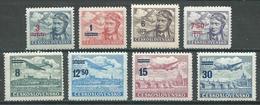 Tchécoslovaquie Poste Aérienne YT N°28/35 Neuf ** - Poste Aérienne