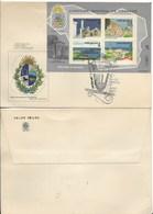 URUGUAY 1980 300TH ANNIVERSARY OF COLONIA, CITY, HISTORY, TOURISM SOUVENIR SHEET ON FDC - Uruguay