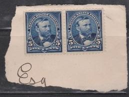 USA Scott # 281 Uncancelled Pair On Piece - President Grant - Unused Stamps