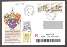 Estonia 2005 2 Stamps FDC (Tallinn) Kiltsi Hall Mi 525 - Estonie