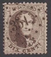 COB 14 - Dent 12 ½ - 13 ½  - Obl. 351 (TERMONDE) - 1863-1864 Medaillen (13/16)