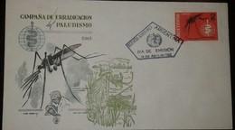O) 1962 ARGENTINA, MOSQUITO AND MALARIA ERADICATION SCT 727 - WHO DRIVE TO ERADICATE MALARIA, FDC XF - FDC