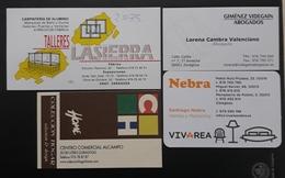 LOTE DE 4 TARJETAS DE VISITA. - Tarjetas De Visita