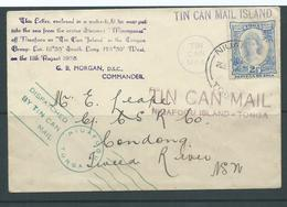 Tonga 1938 Clean Tin Can Mail Cover To Tweed River NSW Australia, Profusely Cacheted As Always - Tonga (1970-...)