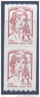 N° 863 Marianne Adhésif Roulette Année 2013, Valeur Faciale Lettre Prioritaire X2 - Adhésifs (autocollants)