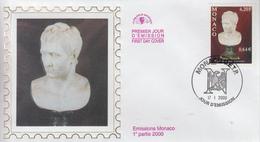Enveloppe  FDC  1er  Jour   MONACO    Souvenirs  Napoléoniens   2000 - Napoleon