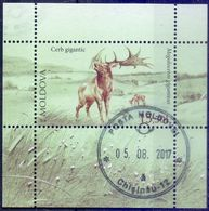 Used Moldova 2016, Disappeared Animals From Moldova - Irish Elk (Megaloceros Giganteus) S/S. - Moldova