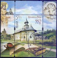 Used Moldova 2016, 550 Years Putna Monastery S/S. - Moldova