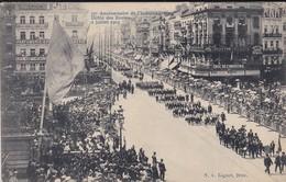 BELGIQUE--BRUXELLES--75è Anniversaire De L'indépendance-défilé Des écoles--2 Juillet 1905--voir 2 Scans - Belgique