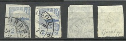 Estland Estonia 1921 Michel 17 C: 1 (thicker Paper) Variety Abart + Normal Stamp O - Estland