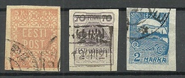 FAUX Estland Estonia 1918-1922 = 3 Alte Fälschungen Forgeries FAKE O - Estland
