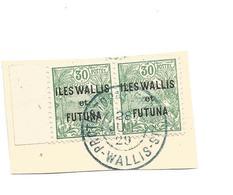 40  TIMBRE SURCHAGE  EN PAIRE      Beau Cachet   (12I) - Wallis En Futuna