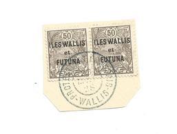 25  TIMBRE SURCHAGE  EN PAIRE      Beau Cachet   (12I) - Wallis En Futuna
